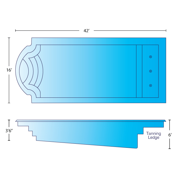 grand majestic pool dimensions