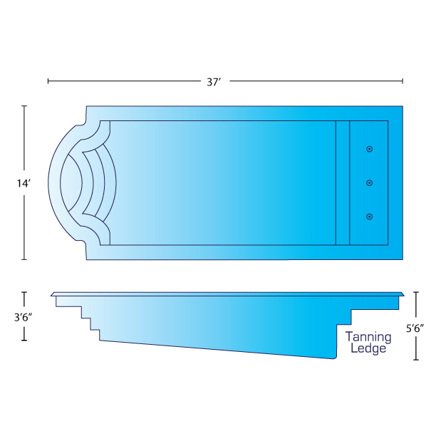 majestic pool dimensions
