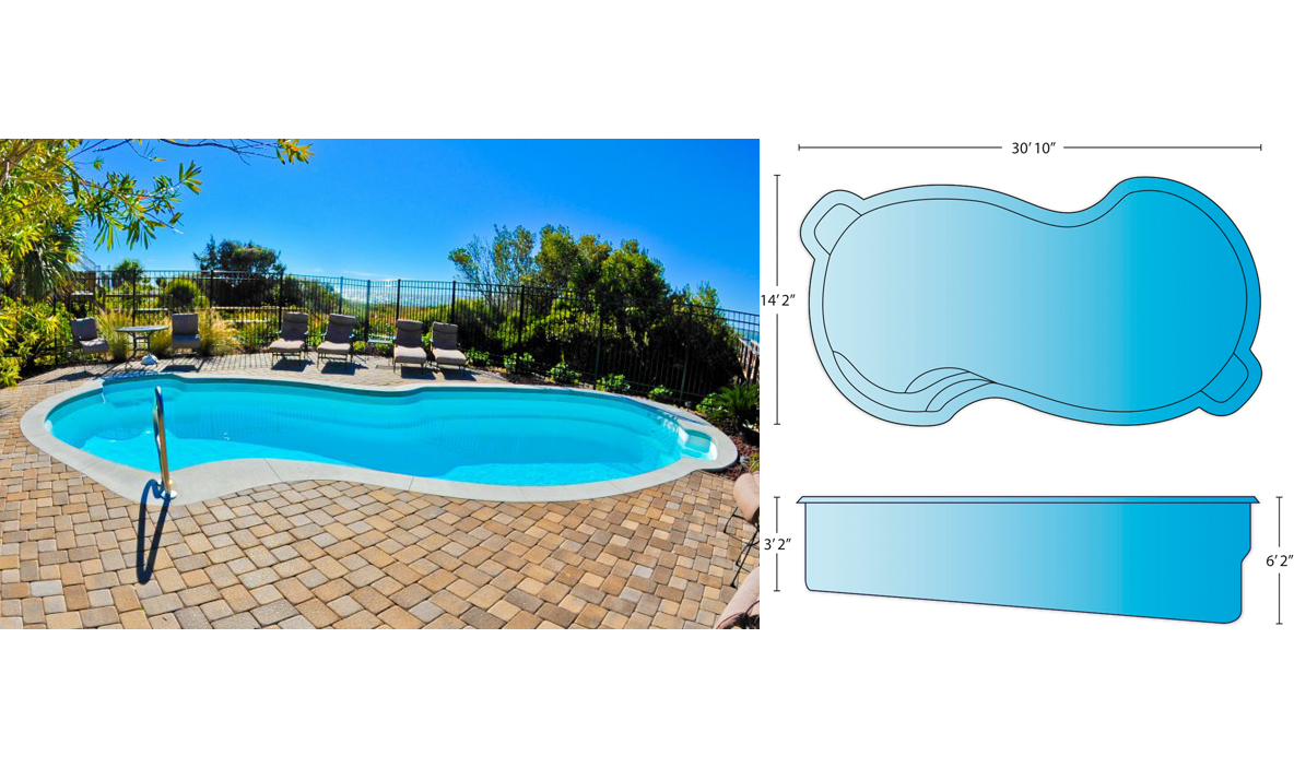 baron pool dimensions