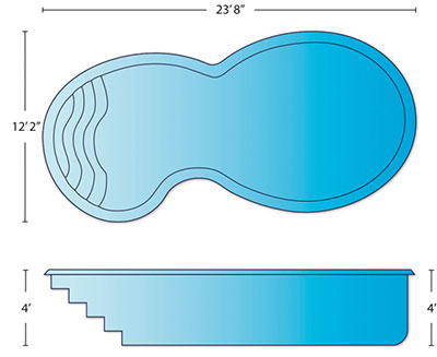 Atlantis - medium sport pool dimensions